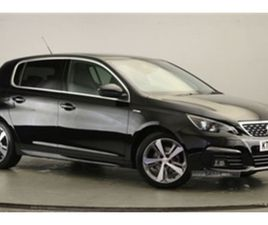 USED 2017 PEUGEOT 308 GT LINE HDI BLUE S/S HATCHBACK 43,900 MILES IN BLACK FOR SALE | CARS