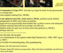 OPEL COMMODORE S COUPÉ 1973