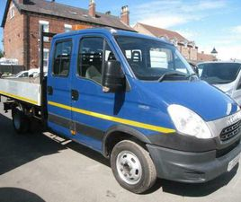 2013 IVECO DAILY 50C15 DOUBLE CAB ALLOY DROP SIDE TIPPER 150 BHP CAN TOW 3.5 TO