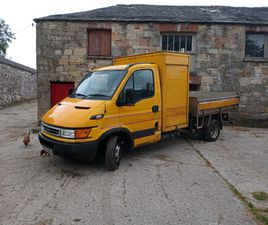 IVECO 50C TIPPER WITH TWIN SHUTTER STORAGE .