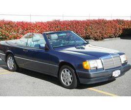 1993 MERCEDES 300CE CABRIOLET, BLUE ON BLUE ON GREY