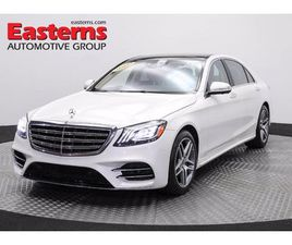 WHITE COLOR 2018 MERCEDES-BENZ S-CLASS S 450 4MATIC FOR SALE IN HYATTSVILLE, MD 20784. VIN