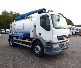 DAF LF 55.220 4X2 RHD WHALE VAC TANK LORRY FOR SALE IN ANTRIM FOR £36,500 ON DONEDEAL