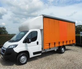 USED 2018 PEUGEOT BOXER BLUE HDI 335 L3 CURTAINSIDE NOT SPECIFIED 93,000 MILES IN WHITE FO