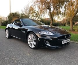 USED 2011 JAGUAR XKR 5.0 V8 SUPERCHARGED CONVERTIBLE 28,000 MILES IN BLACK FOR SALE | CARS