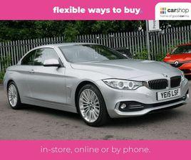 2015 BMW 4 SERIES 2.0TD 420D LUXURY (184BHP) CONVERTIBLE 2D - £18,000