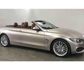 2016 BMW 4 SERIES 2.0 430I LUXURY CONVERTIBLE 2D - £22,799