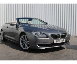 BMW 6 SERIES 3.0 640I SE 2DR AUTOMATIC IVORY LEATHER
