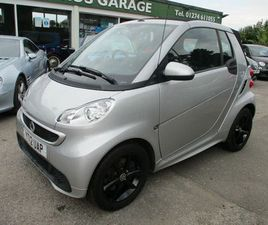 2012 SMART FORTWO 1.0 PASSION (71BHP) CABRIOLET SOFTOUCH - £4,599
