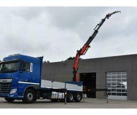 DAF XF 460 MET OPEN LAADBAK EN KRAAN FASSI F365 + JIB EURO6
