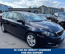 PEUGEOT 308 1.5 BLUE HDI S/S SW ACTIVE 5D 129 BHP NI CAR NO BREXIT CHARGES FOR EXPORT