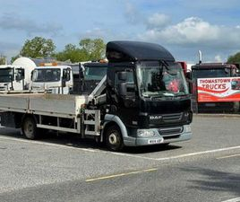 2014 DAF LF45.160 7.5 TON FLATBED & CRANE FOR SALE IN LOUTH FOR €1 ON DONEDEAL