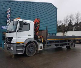 2005 MERCEDES ATEGO 18TON FLAT AND CRANE FOR SALE IN DUBLIN FOR €UNDEFINED ON DONEDEAL