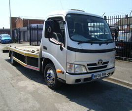 TOYOTA DYNA CAR TRANSPORTER 2008 27000 MILES FSH 2 OWNERS THE LAST FOR 9 YEARS