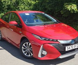 NEARLY NEW 2020 (70) TOYOTA PRIUS 1.8 PHEV EXCEL 5DR CVT IN EAST KILBRIDE