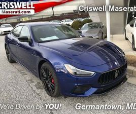 BRAND NEW BLUE COLOR 2021 MASERATI GHIBLI S Q4 GRANSPORT FOR SALE IN GERMANTOWN, MD 20874.