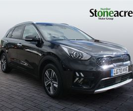 USED 2020 KIA NIRO 1.6 GDI HYBRID 2 5DR DCT NOT SPECIFIED 7,562 MILES IN BLACK FOR SALE  