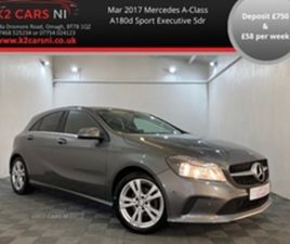 USED 2017 MERCEDES-BENZ A CLASS 180 D SPORT EXECUTIVE HATCHBACK 108,116 MILES IN GREY FOR