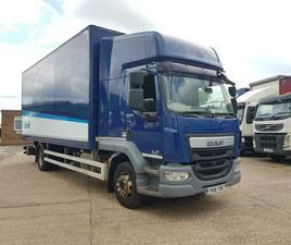 DAF LF 250, 2016, 22FT BOX TRUCK OR CAB CHASSIS, EURO 6, 16 TON, SLEEPER CAB