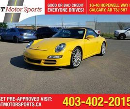USED 2008 PORSCHE 911 CARRERA S   SPEED YELLOW   $0 DOWN - APPROVED!