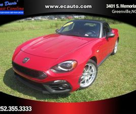 RED COLOR 2018 FIAT 124 SPIDER ABARTH FOR SALE IN GREENVILLE, NC 27834. VIN IS JC1NFAEKXJ0