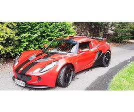 STUNNING 2007 '57' PLATE LOTUS EXIGE S TOURING. RARE CHILLI RED WITH BLACK DECALS.