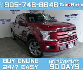 USED 2019 FORD F-150 LARIAT |4X4 |CREW CAB | 502A |PANO ROOF | 20 RIMS