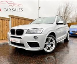 USED 2012 BMW X3 XDRIVE20D M SPORT AUTO NOT SPECIFIED 84,000 MILES IN SILVER FOR SALE   CA