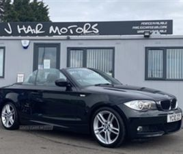 USED 2010 BMW 1 SERIES COUPE CABRIOLET 118 M SPORT CONVERTIBLE 92,000 MILES IN BLACK FOR S