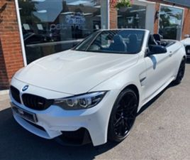 USED 2018 BMW 4 SERIES M4 COMPETITION 2-DOOR CONVERTIBLE 29,000 MILES IN MINERAL WHITE FOR