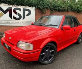 USED 1988 FORD ESCORT CABRIOLET XR3I CONVERTIBLE 89,000 MILES IN RED FOR SALE   CARSITE