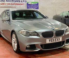 2011 BMW 5 SERIES 3.0TD 530D M SPORT TOURING ESTATE 5D AUTO - £10,495