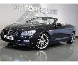 2011 BMW 6 SERIES 3.0 640I SE CONVERTIBLE 2996CC AUTO - £18,995