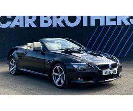 2010 BMW 6 SERIES 3.0TD 635D SPORT CONVERTIBLE - £8,495
