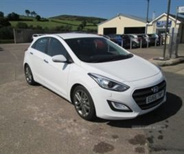 USED 2016 HYUNDAI I30 PREMIUM BLUE DRIVE CR HATCHBACK 71,572 MILES IN WHITE FOR SALE | CAR