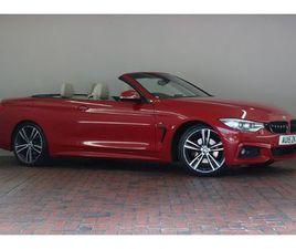 BMW 4 SERIES 420D M SPORT 2DR AUTO [M SPORT PLUS PACK, CONVERTIBLE COMFORT PACKAGE] 2.0