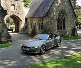 USED 2008 BMW 6 SERIES 635D SPORT CONVERTIBLE 55,200 MILES IN GREY FOR SALE | CARSITE