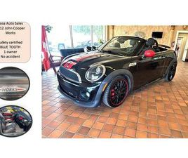 USED 2012 MINI COOPER ROADSTER 2DR JOHN COOPER WORKS CONVERTABLE 1 OWNER NO ACCID