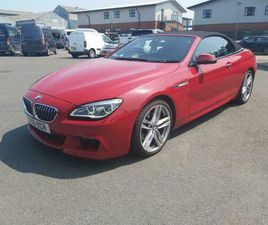 2016 16 BMW 640 D M SPORT AUTO CONVERTIBLE FULL BMW SERVICE HISTORY+LEATHER