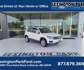WHITE COLOR 2017 VOLKSWAGEN TIGUAN LIMITED FOR SALE IN CALIFORNIA, MD 20619. VIN IS WVGAV7