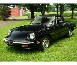 FOR SALE: 1986 ALFA ROMEO SPIDER IN MONROE TOWNSHIP, NEW JERSEY