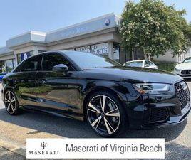 BLACK COLOR 2018 AUDI RS3 FOR SALE IN VIRGINIA BEACH, VA 23462. VIN IS WUABWGFF3J1900899.