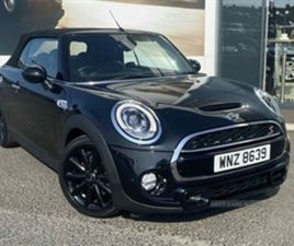USED 2017 MINI CONVERTIBLE 2.0 COOPER S 2DR HATCHBACK 17,324 MILES IN BLACK FOR SALE   CAR