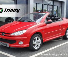 PEUGEOT 206 COUPE CABRIOLET 1.6 ONE OWNER FOR SALE IN WEXFORD FOR €2,950 ON DONEDEAL