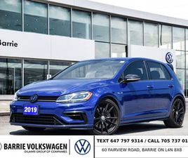 2019 VOLKSWAGEN R32 4 CY 5-DR 2.0T 4MOTION AT DSG NAVI HEATED FRONT SEATS