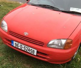TOYOTA STARLET 1.3 FOR SALE IN WICKLOW FOR €800 ON DONEDEAL