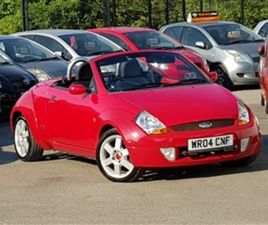 USED 2004 FORD STREETKA 1.6L 8V LUXURY 2D 94 BHP CONVERTIBLE 27,000 MILES IN RED FOR SALE