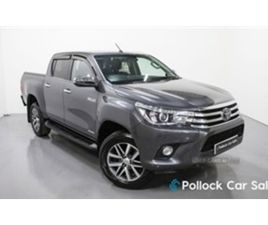 USED 2018 TOYOTA HILUX INVINCIBLE MANUAL 148BHP 3.5T ROLL & LOCK NOT SPECIFIED 39,401 MILE