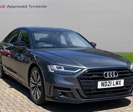 USED 2021 AUDI A8 50 TDI QUATTRO BLACK EDITION 4DR TIPTRONIC SALOON 778 MILES IN GREY FOR