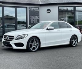 USED 2018 MERCEDES-BENZ C CLASS 250 AMG LINE D AUTO SALOON 39,000 MILES IN WHITE FOR SALE
